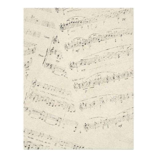 romantic Vintage musicnotes modern wedding Customized Letterhead