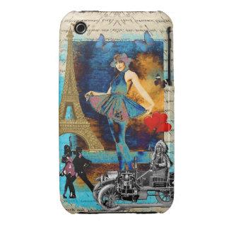 Romantic vintage Paris collage Case-Mate iPhone 3 Cases