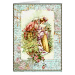 Romantic Vintage Regency Couple with Roses