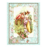 Romantic Vintage Regency Couple with Roses Flyers