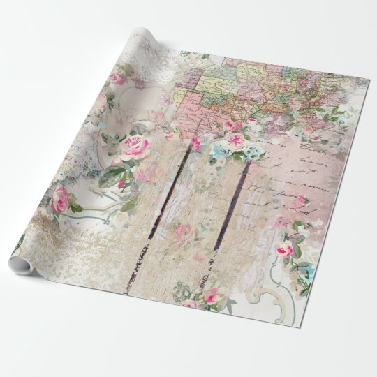 Romantic Vintage Roses Wall Paper