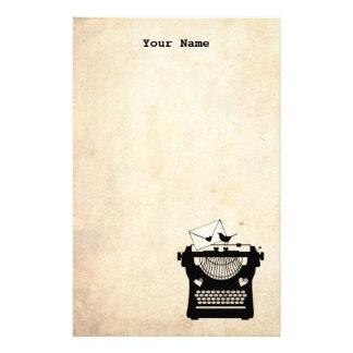 Romantic Vintage Typewriter Stationery