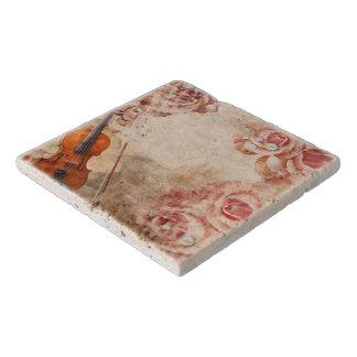 Romantic Violin Stone Trivets