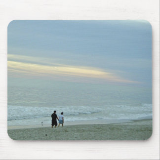 Romantic Walk Along The Beach Mouse Pad