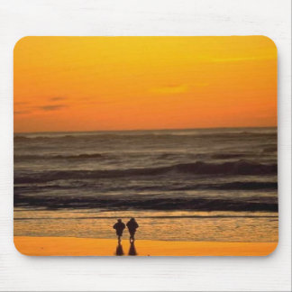 Romantic Walk On The Beach At Sunset Mouse Pad