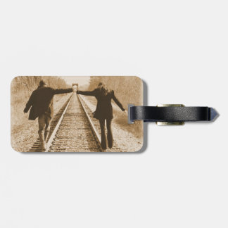 Romantic Walk on the Rail Luggage Tag
