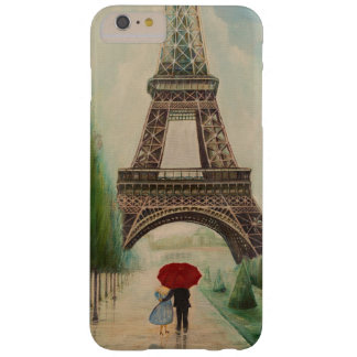 Romantic walkers at the Eiffel Tower Barely There iPhone 6 Plus Case