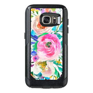 Romantic Watercolor Colorful Flowers OtterBox Samsung Galaxy S7 Case