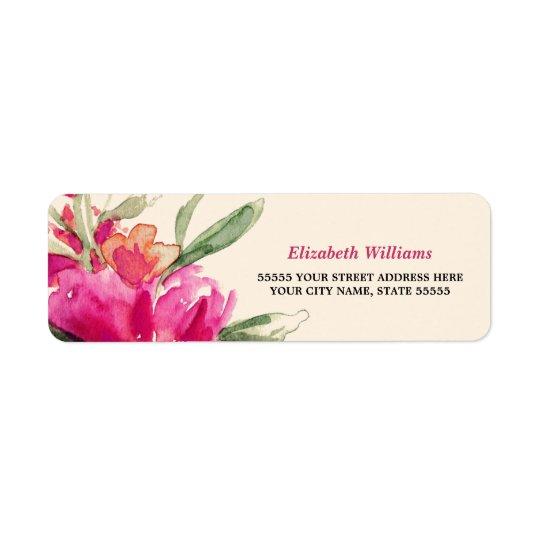 Romantic Watercolor Floral  Return Address Labels