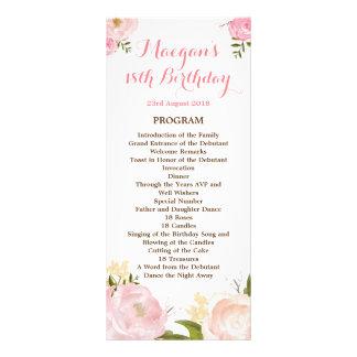 Romantic Watercolor Flowers Program - CUSTOM Rack Card