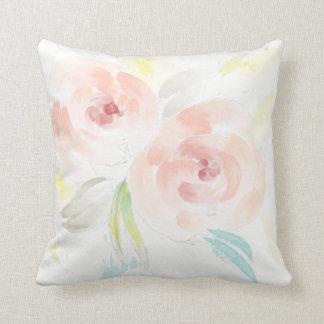 Romantic Watercolor Roses Pillow