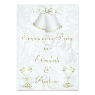 Romantic Wedding Bells & Champagne Flutes Card