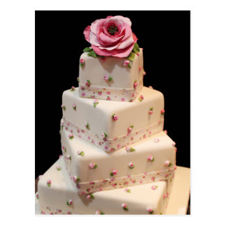 Romantic Wedding Cake Postcard