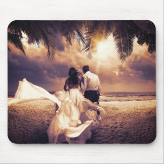 Romantic Wedding Couple Mouse Pad