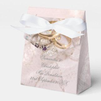 Romantic wedding rings wedding favor box