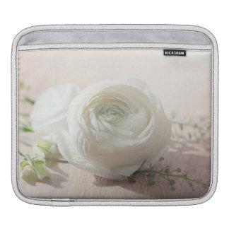 Romantic White Rose iPad Sleeves