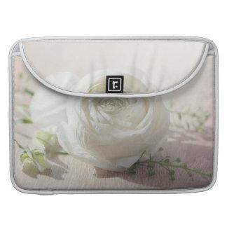 Romantic White Rose Sleeves For MacBooks