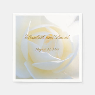 Romantic White Rose Wedding Napkins Disposable Napkin