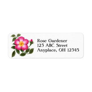 Romantic Wild Rose Label Return Address Label