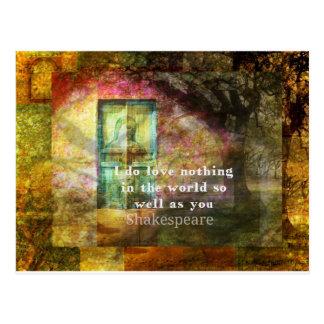 ROMANTIC William Shakespeare LOVE quote Postcard