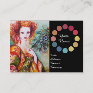 Color palette business cards business card printing zazzle ca romantic woman beauty make up artist color palette business card reheart Gallery