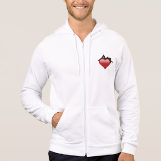 Romantic Woman Lying on a Red Heart Love Hoodie