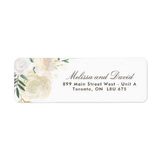 Romantic Woodland  Return Address Labels