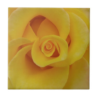 Romantic Yellow Rose Petals Ceramic Tiles