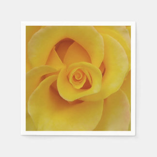 Romantic Yellow Rose Petals Disposable Napkins
