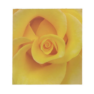 Romantic Yellow Rose Petals Notepad