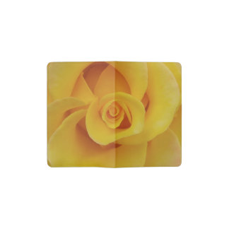 Romantic Yellow Rose Petals Pocket Moleskine Notebook