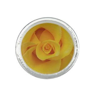 Romantic Yellow Rose Petals Ring