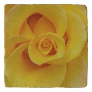 Romantic Yellow Rose Petals Trivet