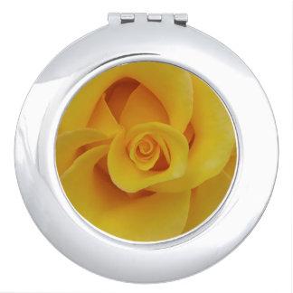 Romantic Yellow Rose Petals Vanity Mirrors