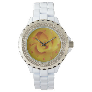 Romantic Yellow Rose Petals Watch