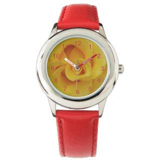 Romantic Yellow Rose Petals Watch