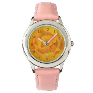 Romantic Yellow Rose Water Drops Watch