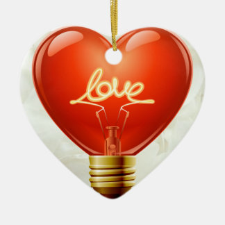 Romantic You Light Up My Life Ornament