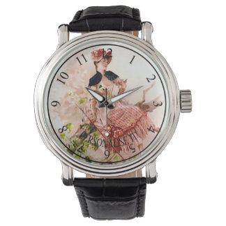 Romantic young woman watch