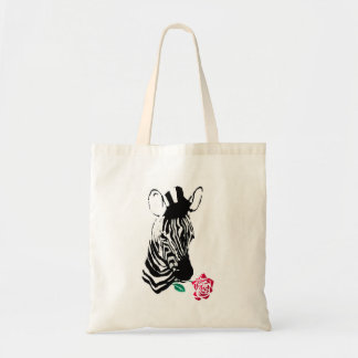 Romantic Zebra Tote Bag