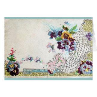 ROMANTİCA Floral Wedding Basket With Pansies Card