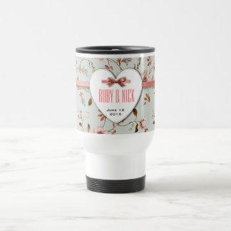 RomanticCharm Vintage Floral Wedding Collection Mugs