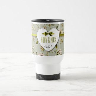 RomanticCharm Vintage Floral Wedding Collection Coffee Mugs