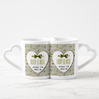 RomanticCharm Vintage Floral Wedding Collection Couples Mug