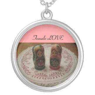 Romanticism hängsmycke Female Love Silver Plated Necklace