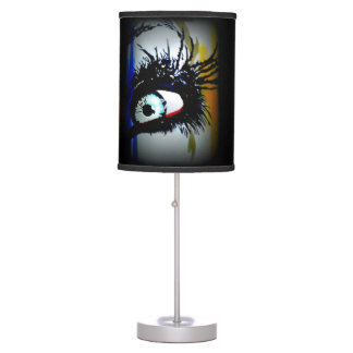 'Romantics' on a table lamp
