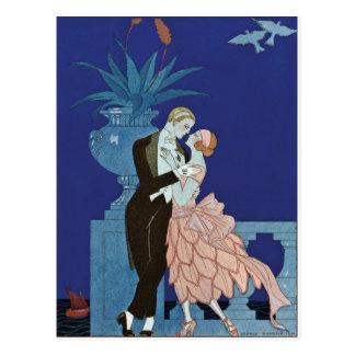 """~ romantique vintage """"Oui """" de couples Cartes Postales"""