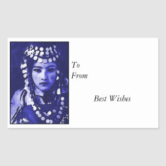 Romany Gypsy in Blue Headdress