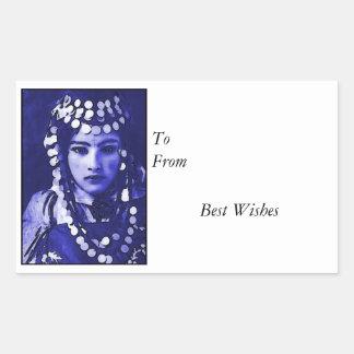 Romany Gypsy in Blue Headdress Sticker
