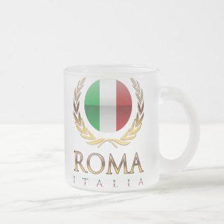 Rome 10 Oz Frosted Glass Coffee Mug